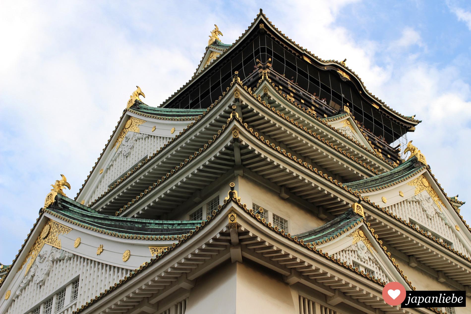 Die Burg von Osaka, Japan.