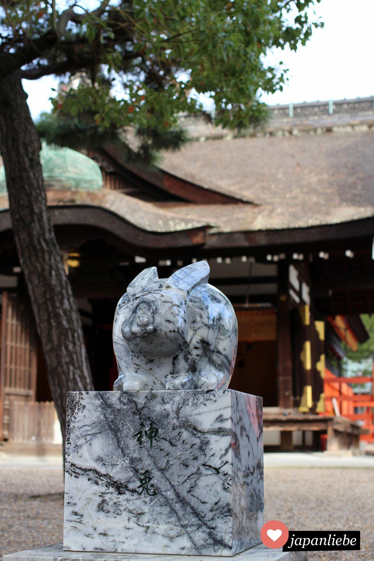 Hasenfigur am Sumiyoshi Taisha Schrein in Osaka, Japan