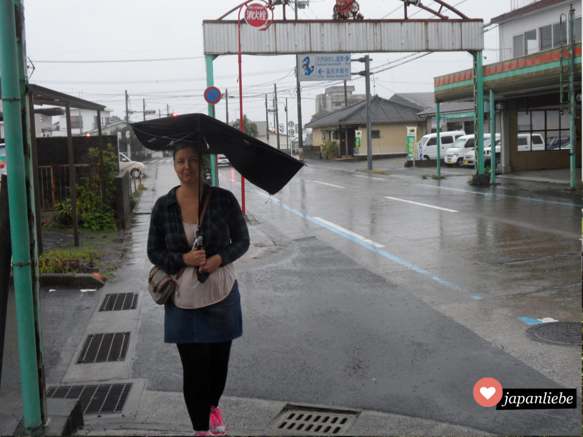 ...bis der Sturm mir meinen Regenschirm kaputt macht.