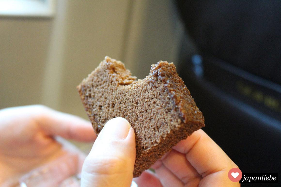 Schwupps, so ein Stück Castella Kuchen ist gleich weg ;)