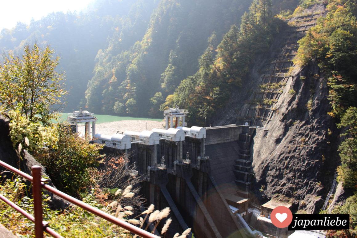 Der Kurobe Staudamm.