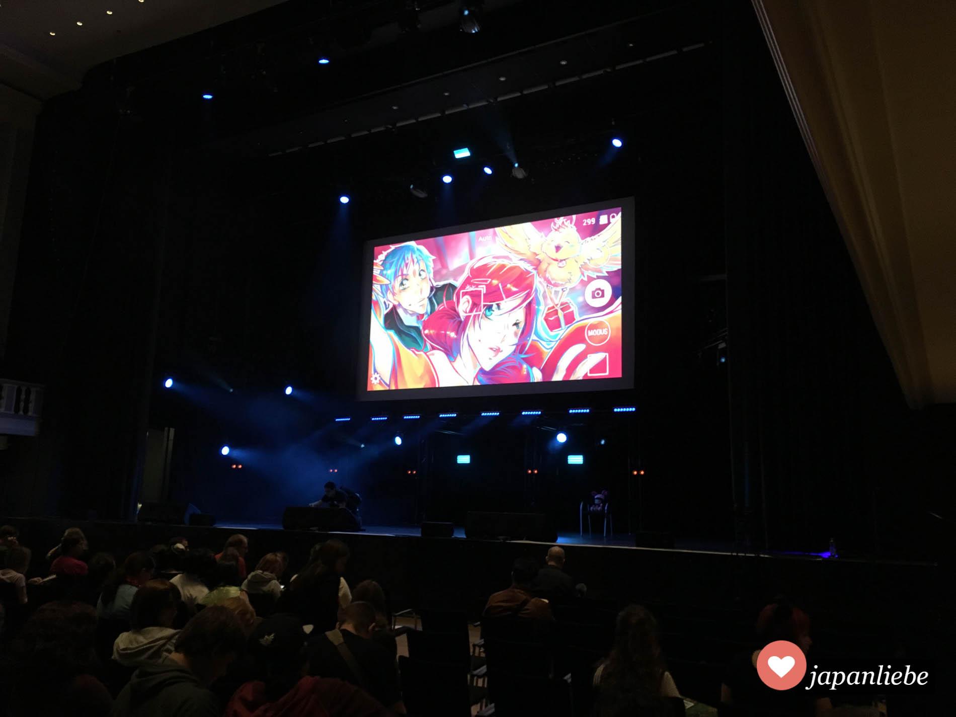 Im großen Saal finden jede Menge Cosplay- und Showevents statt.