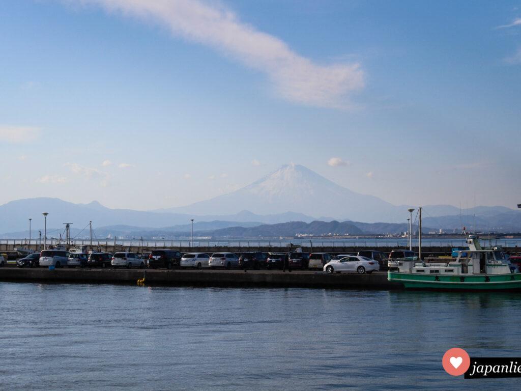 Im Januar bei klaren Verhältnissen hat man von Enoshima us einen tollen Blick auf den Fuji.