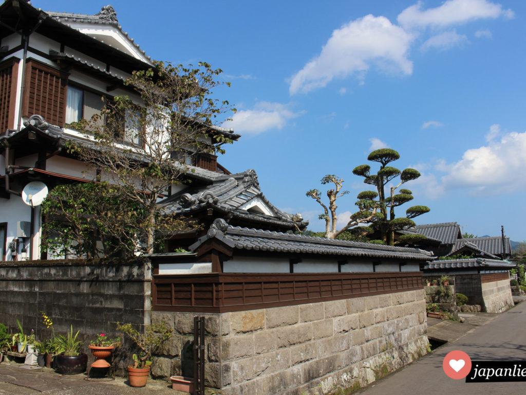 Ein Haus im traditionellen Stil, von denen es so viele gibt in Obi in der Präfektur Miyazaki.