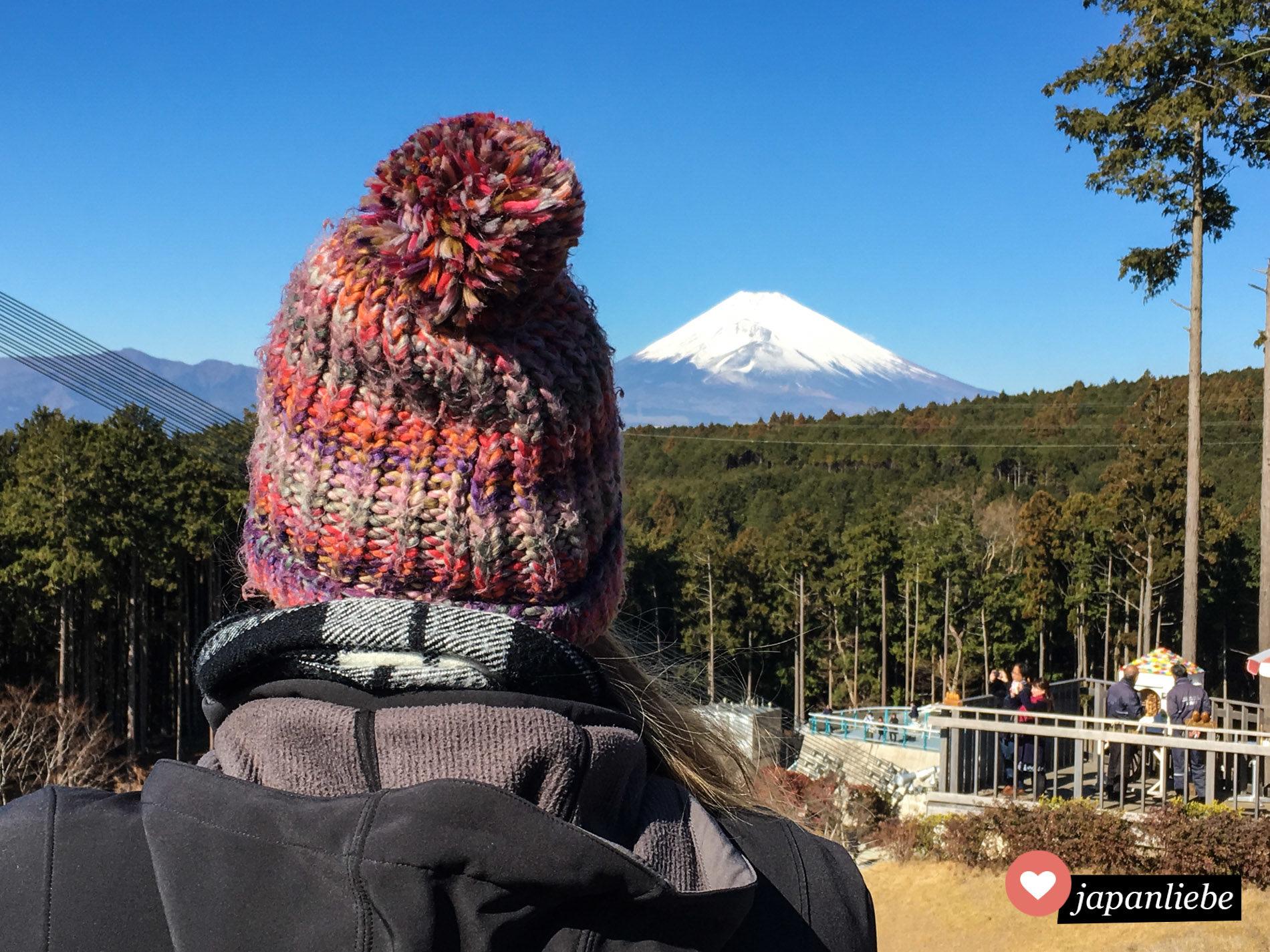 Der Mishima Skywalk ist Japans längste Hängebrücke. Bei klarem Wetter hat man von dort aus einen tollen Blick auf den Fuji.
