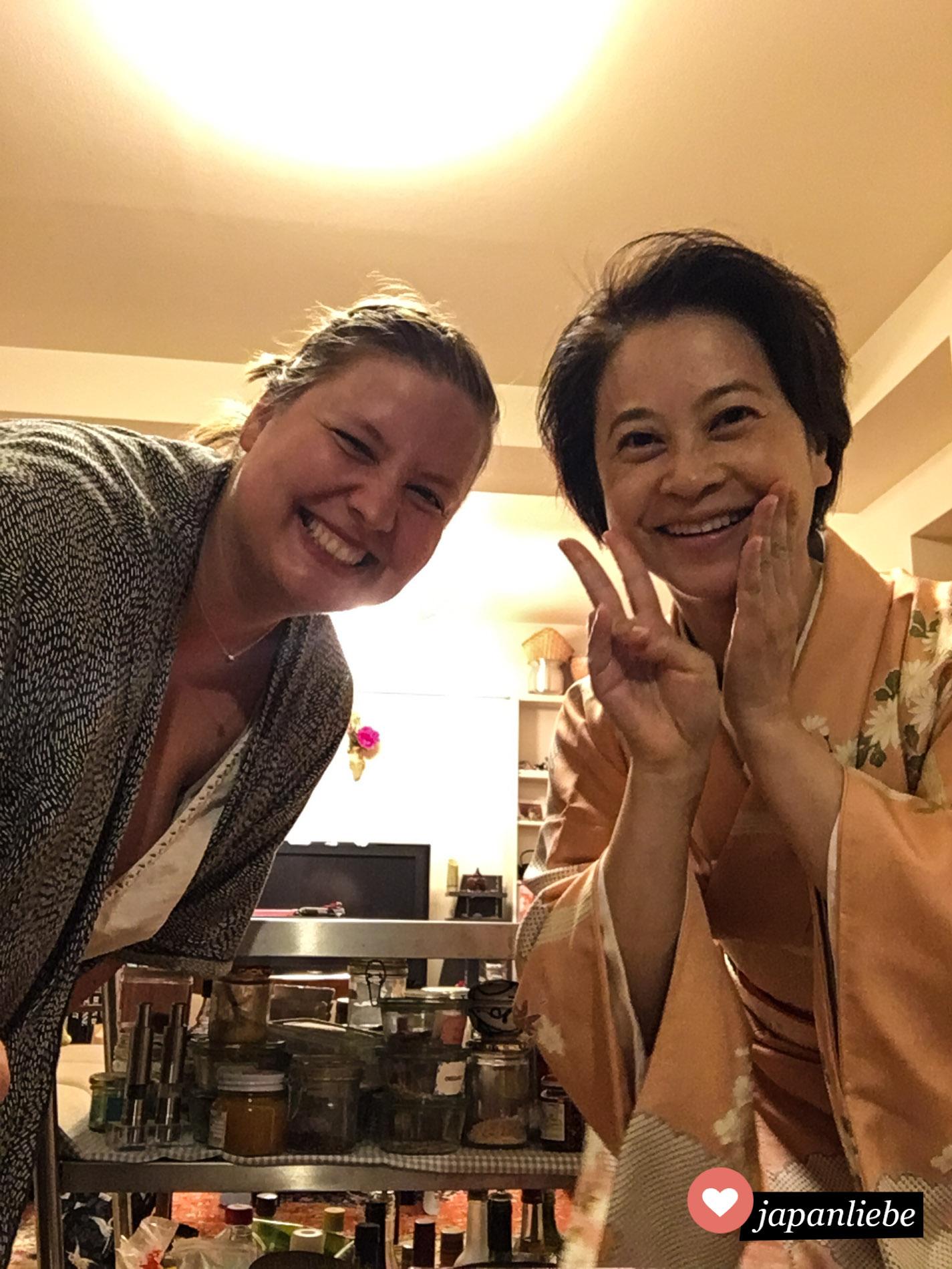 Terumi und ich hatten sehr viel Spaß an unserem kulinarischen Abend.