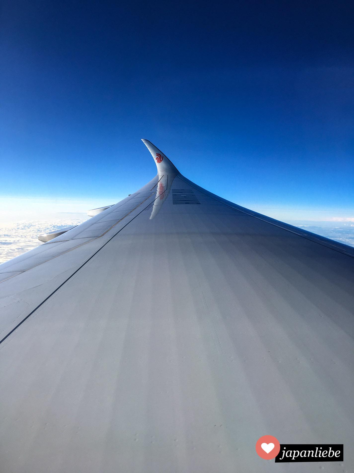 Mit Air China bin ich fürs 445 € über Shanghai nach Japan geflogen.