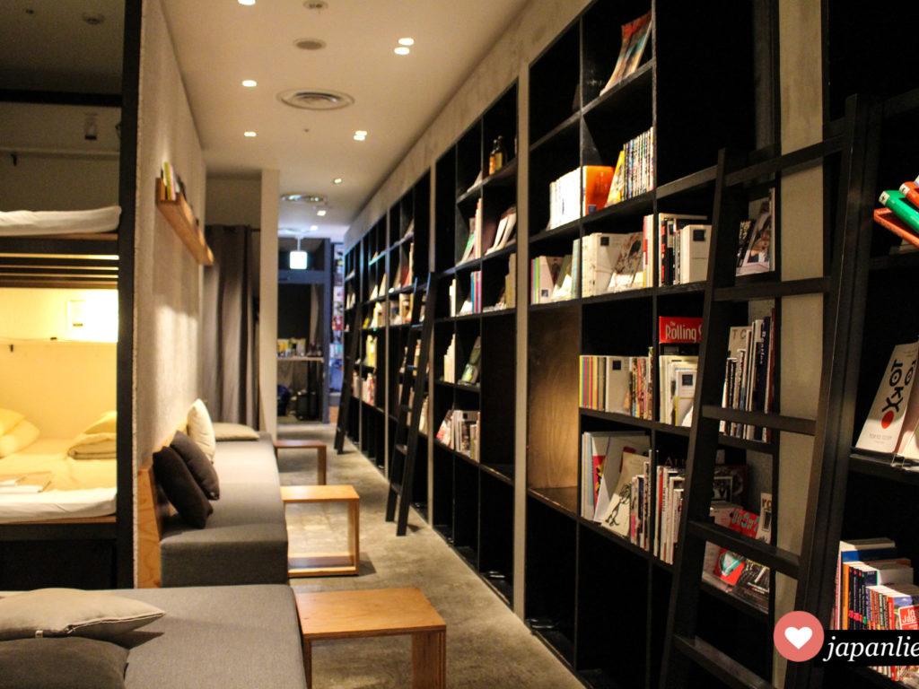 "Das ""Book and Bed Tokyo"" Hostel in Fukuoka."