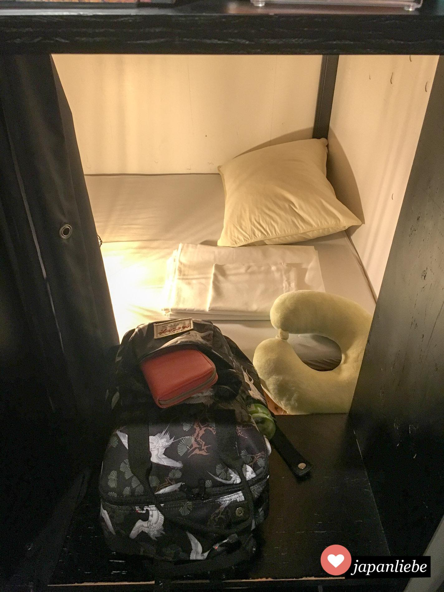 Meine Schlafkoje für vier Nächte.