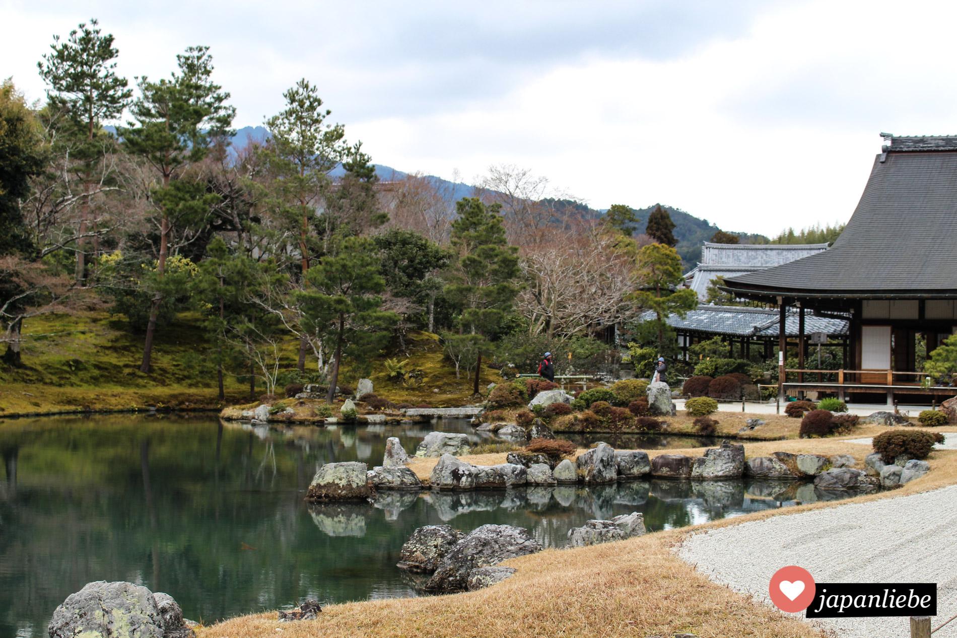 Mit seinem wunderschönen Garten ist der Tenryu-ji Tempel in Arashiyama UNESCO Weltkulturerbe