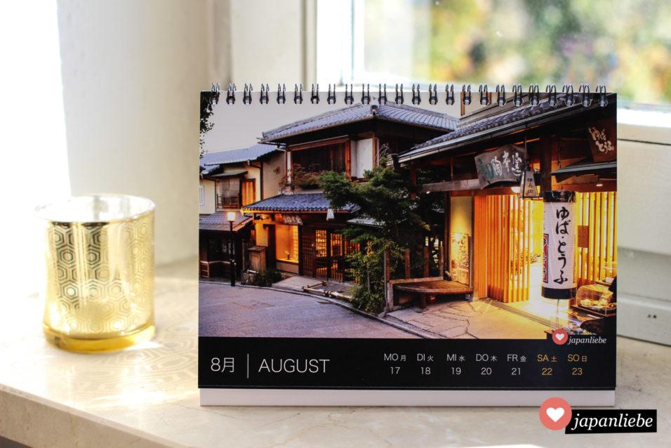Japan Tisch-Wochenkalender 2020 August