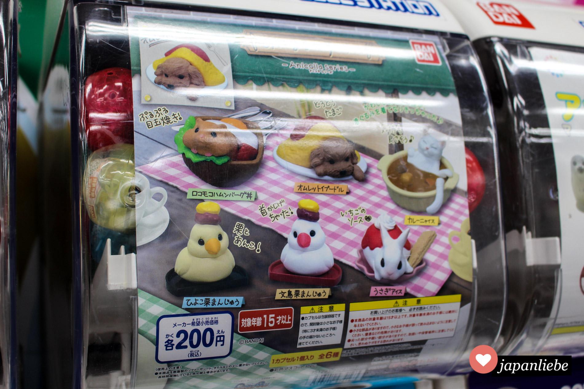 Gashapon: Süße Tiere oder makaberes Essen?