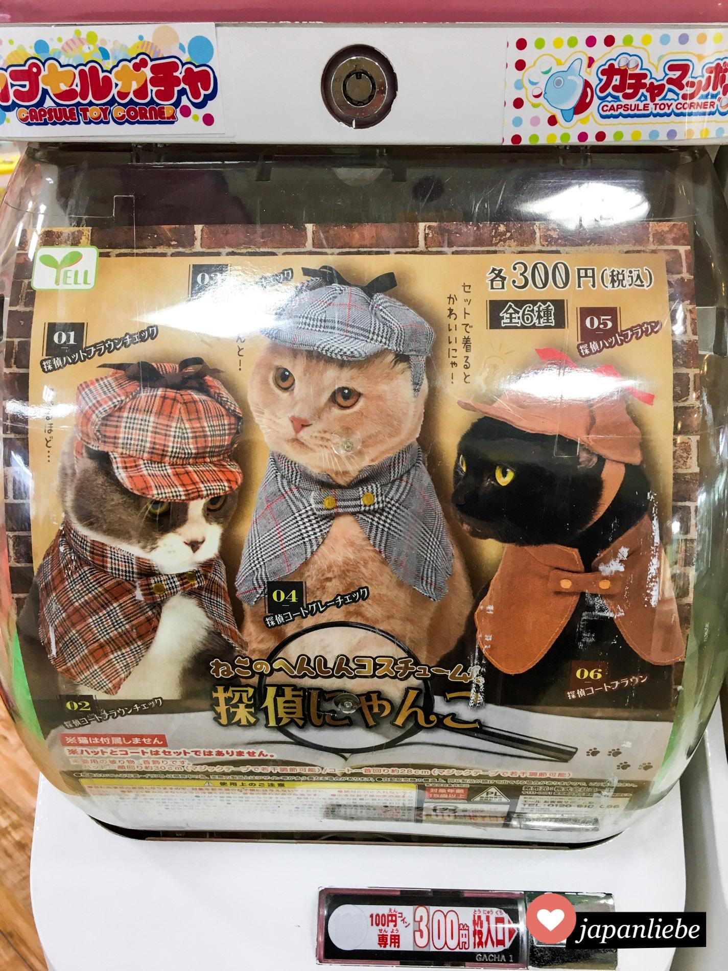Gashapon: Detektivhüte für Katzen