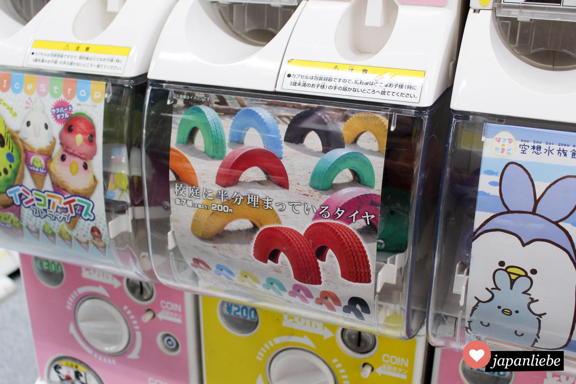 Gashapon: Bunte Spielplatz-Gummireifen