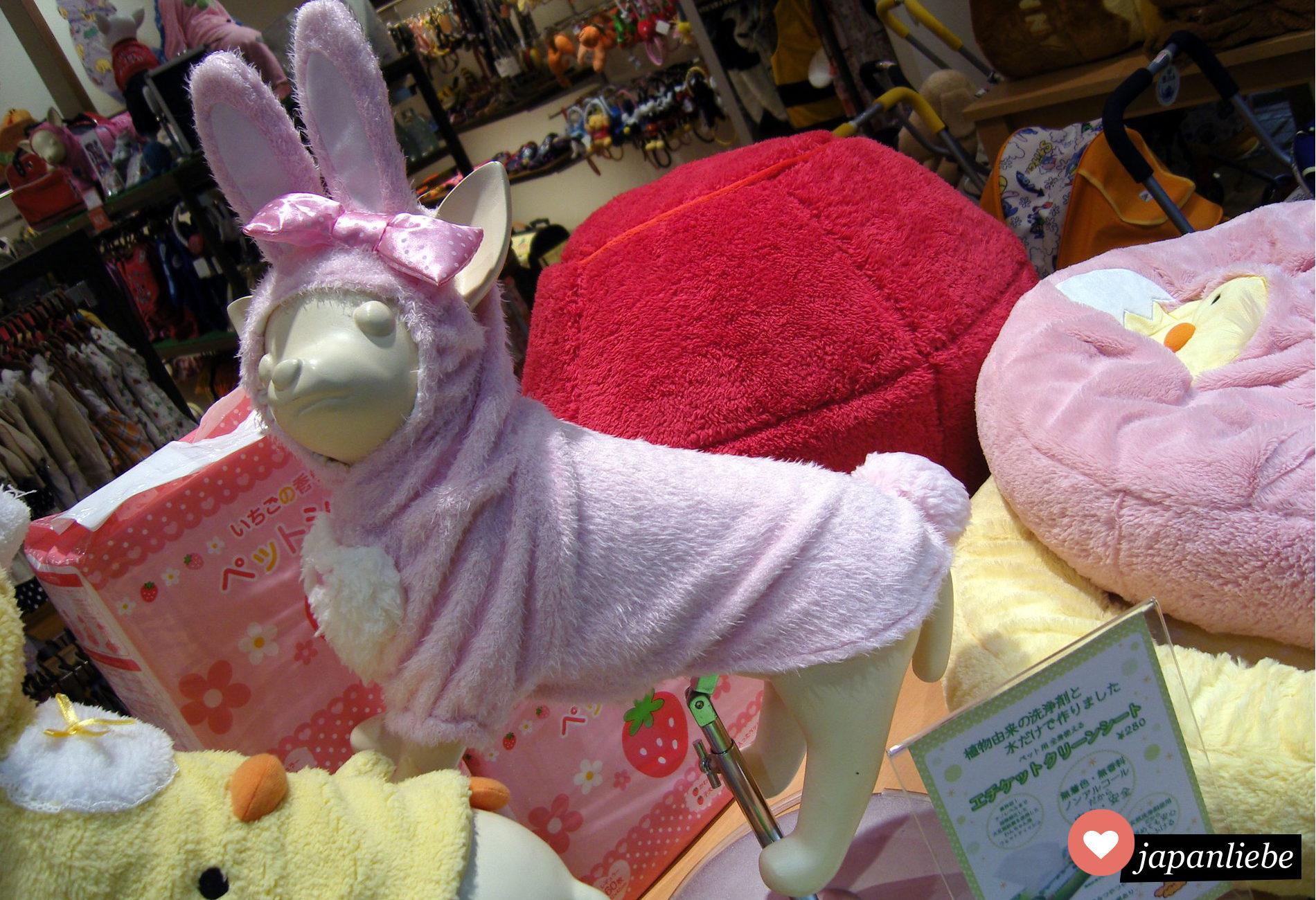 Ein Häschen-Kostüm für Hunde.