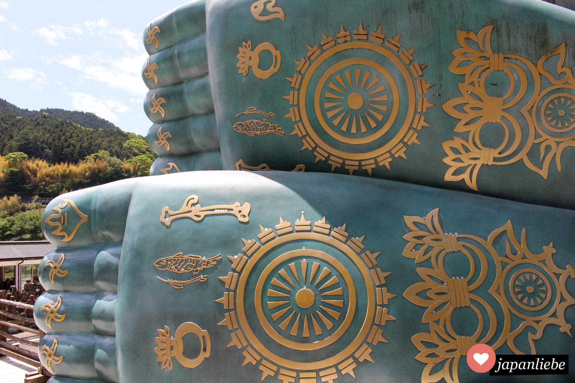 Selbst die Fußsohlen des riesigen, liegenden Buddha am Nanzo-in Tempel sind sehenswert.