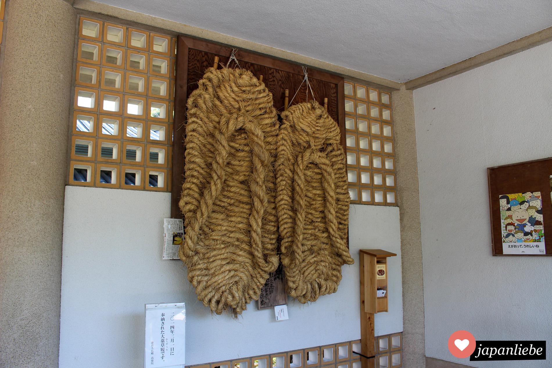 1,8 Meter hoch und geflochten für den riseigen Buddha von Kamakura.
