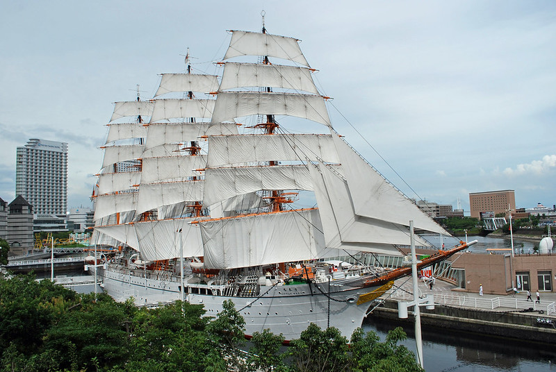 Das 1930 gebaute Segelschiff Nippon Maru liegt im Hafen von Yokohama in einem Trockendock und kann besichtigt werden. (Foto: Rog01 auf Flickr)