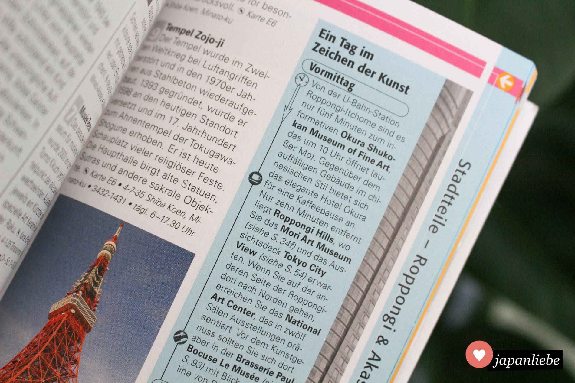 """Für die Stadtteile gibt es im """"Top 10 Tokyo"""" Reiseführer praktische Routenvorschläge für ein bis zwei Tage."""