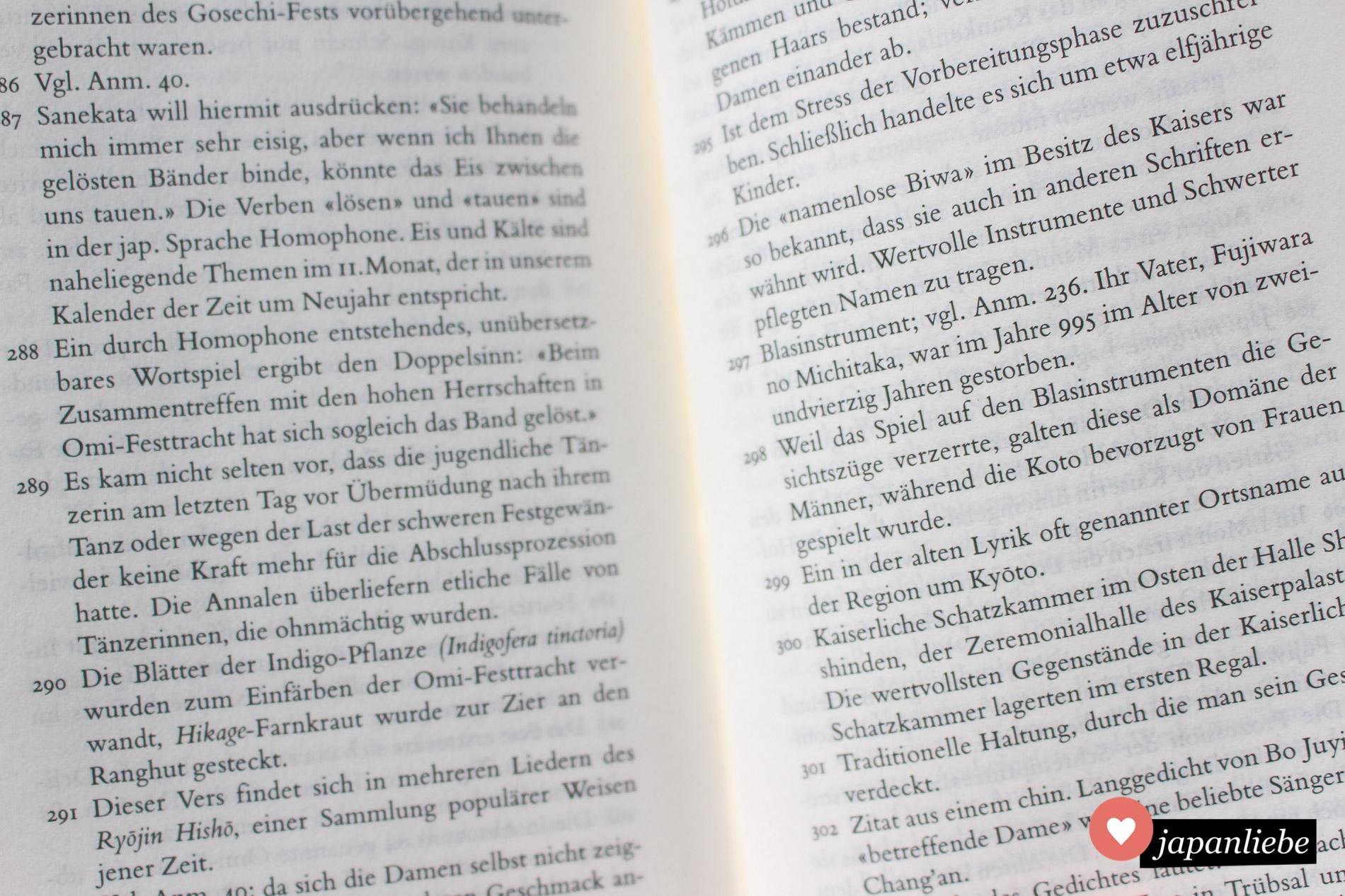 """861 Fußnoten helfen dabei, das """"Kopfkissenbuch"""" besser zu verstehen."""