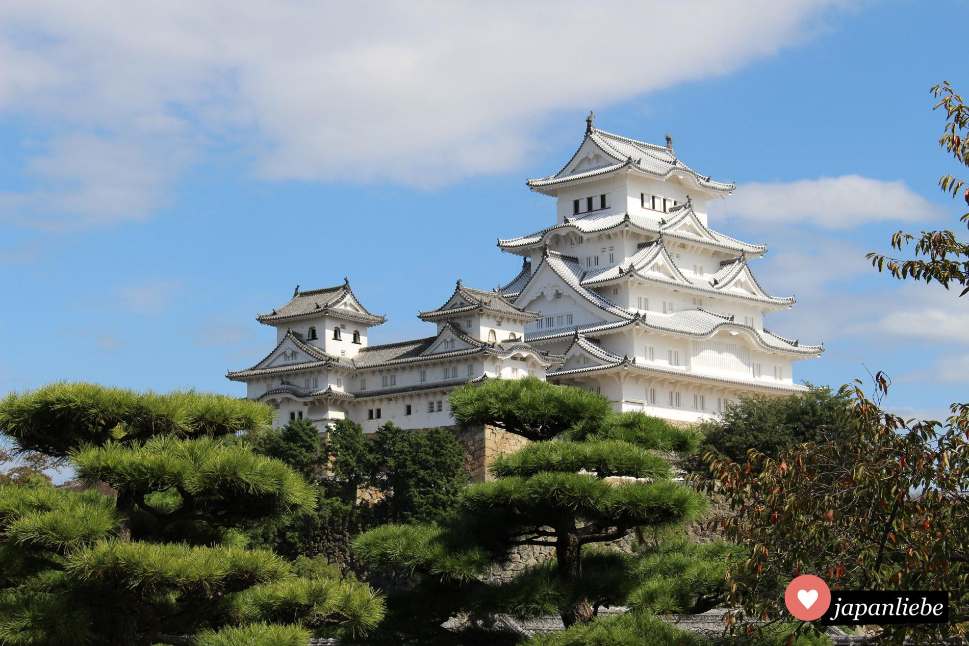 Seit 1993 UNESCO Weltkuturerbe: die weiße Burg von Himeji.