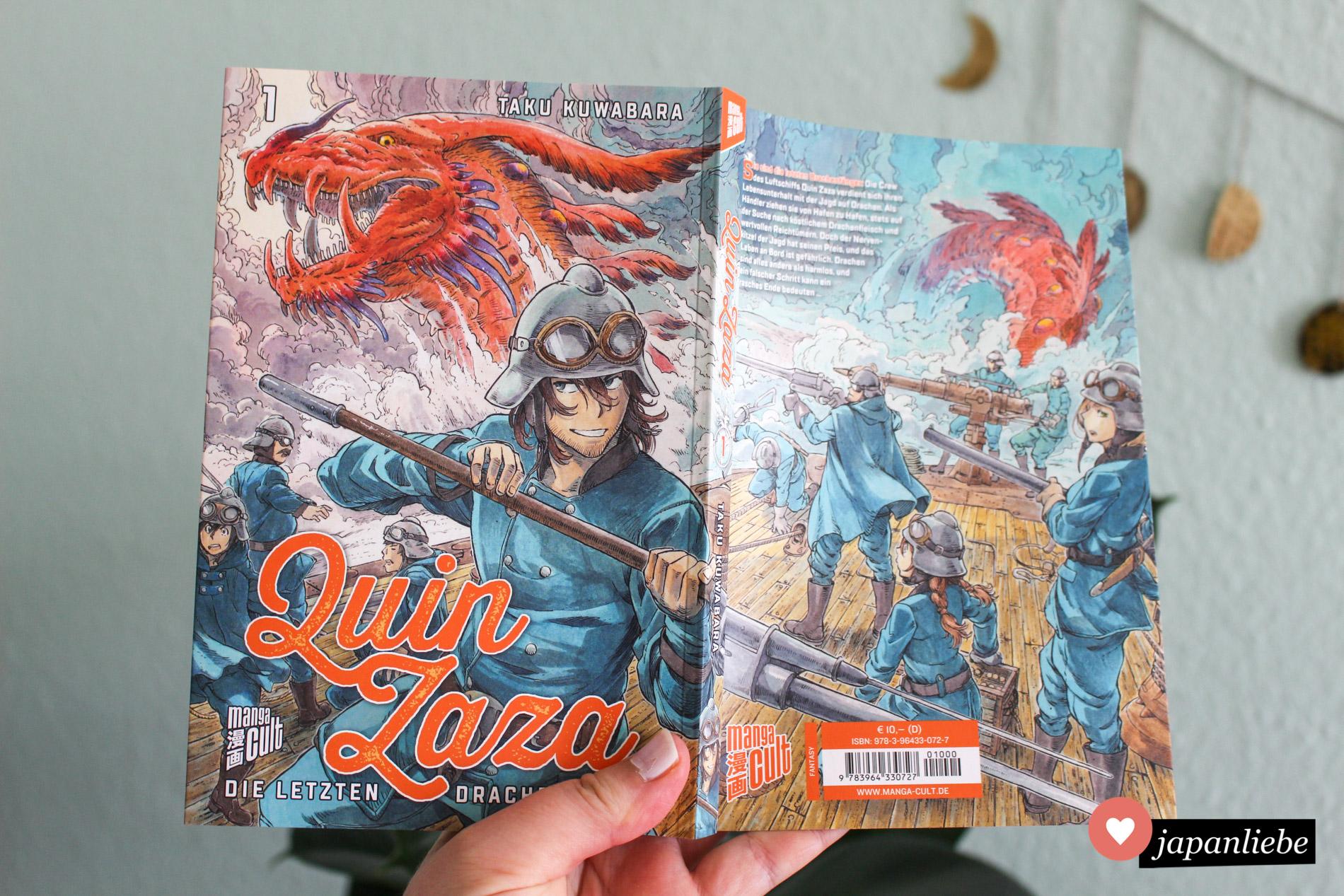 """Bei allen """"Quin Zaza""""-Bänden ergeben Front- und Rückcover ein durchgehendes Bild."""