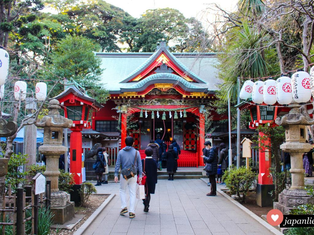 Hinter dem Enoshima-jinja verbergen sich insgesamt drei Schreine.