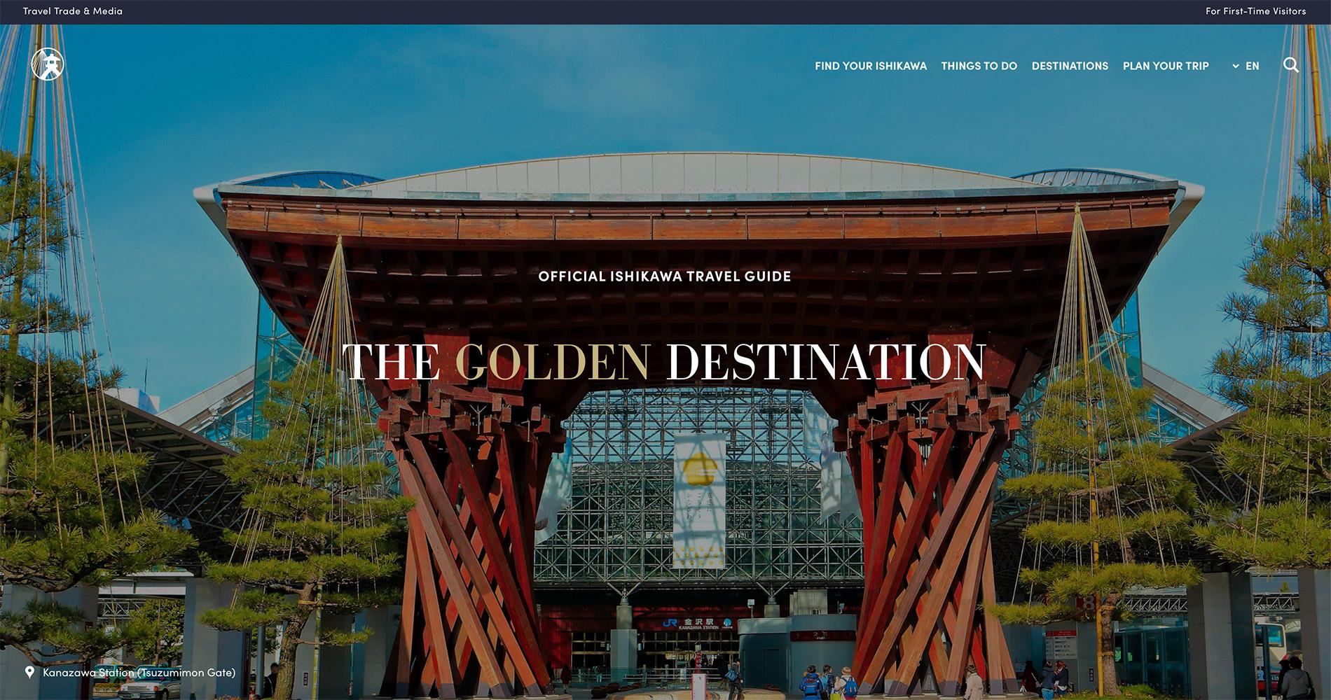 Die englische Webseite des Tourismusverbandes der Präfektur Ishikawa.