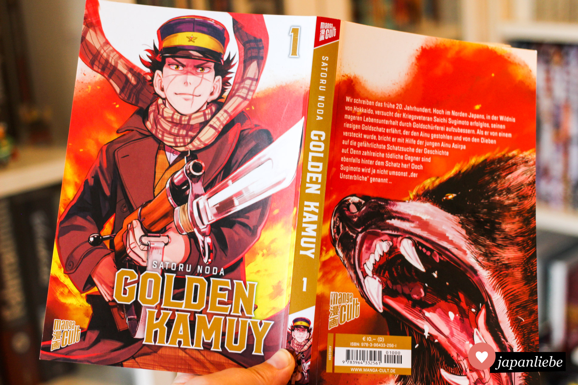 """Das Cover von """"Golden Kamuy"""" gibt eine gute Vorstellung vom Zeichenstil des Mangas."""