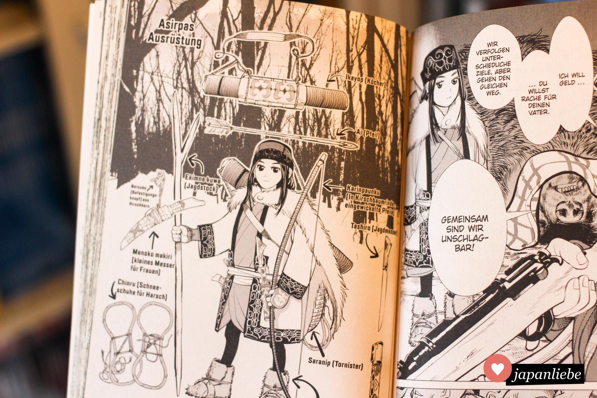 Mit viel Detailliebe wird die Kultur der Ainu erklärt.