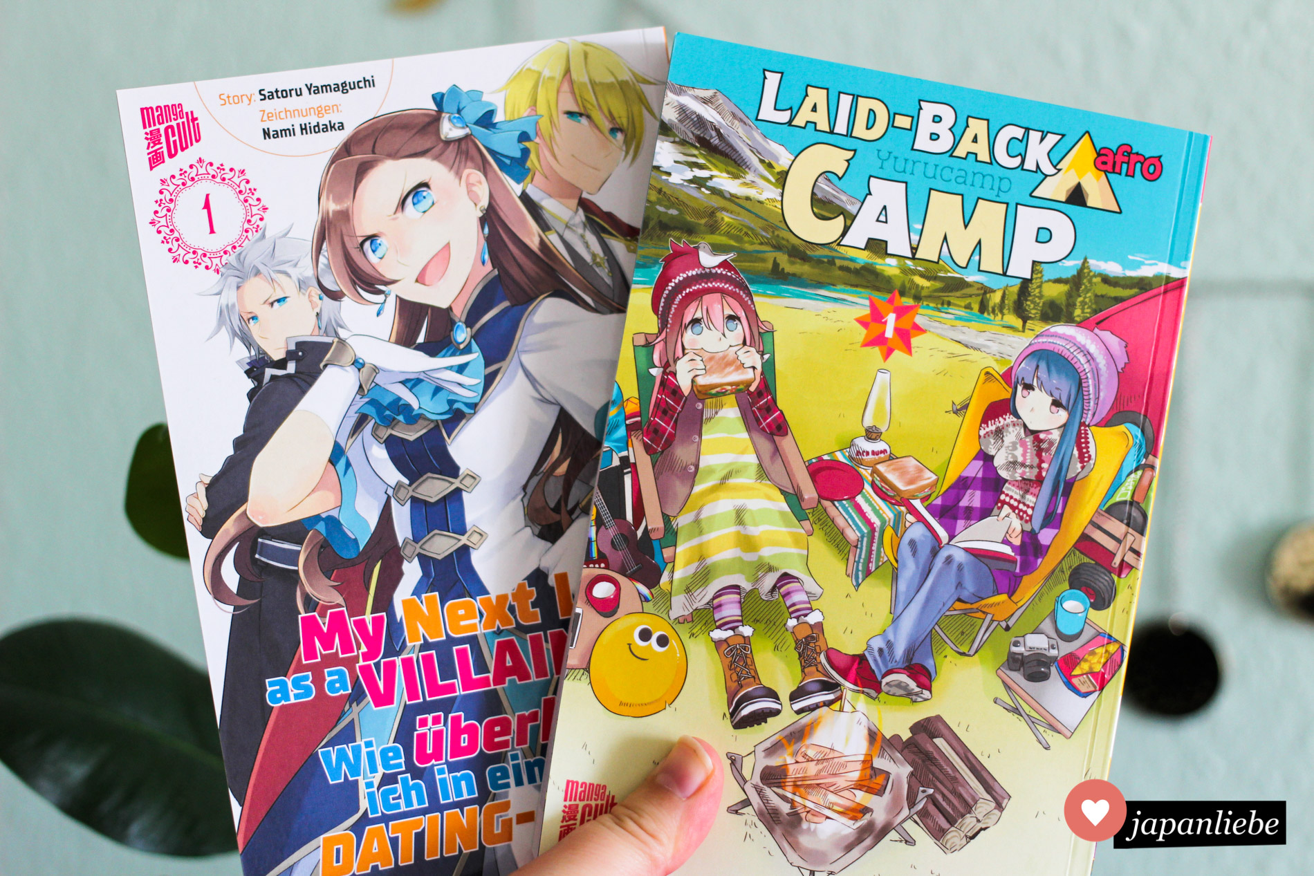"""Laid-Back Camp"" und ""My Next Life as a Villainess"" Band 1"