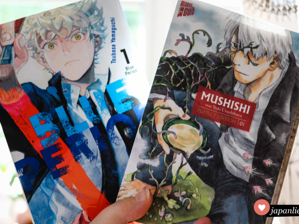 """Blue Period"" und ""Mushishi"" Band 1"