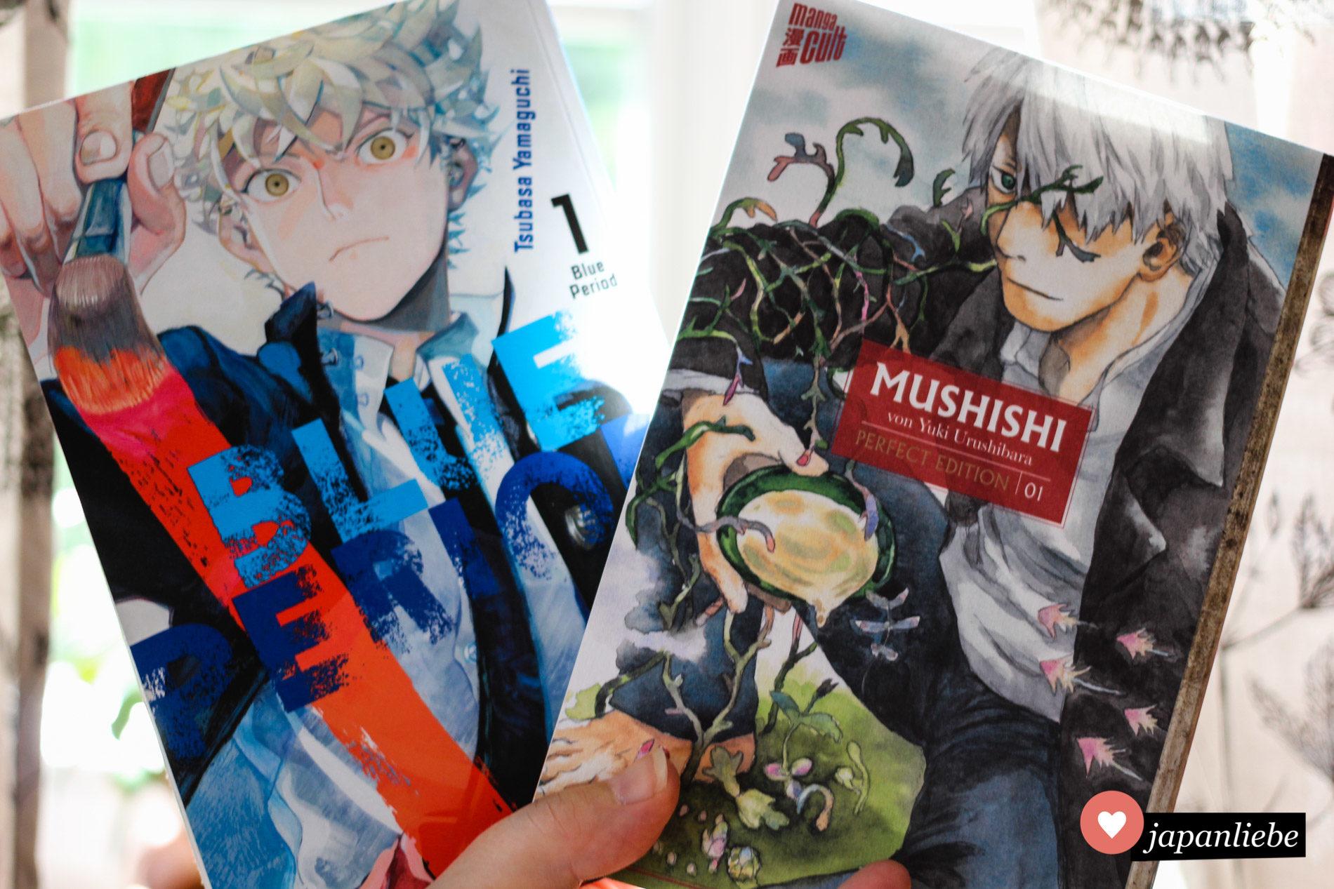 """Blue Period"" und ""Mushishi"" Band 1"