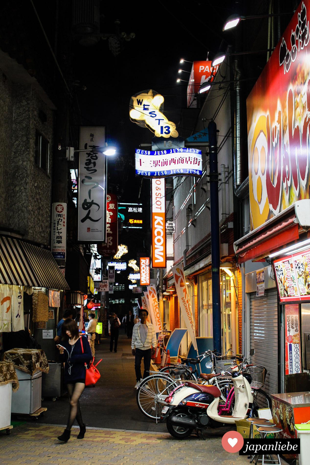 Japan ist ein sehr sicheres Land. Um manche Straßen macht man dennoch lieber einen großen Bogen.