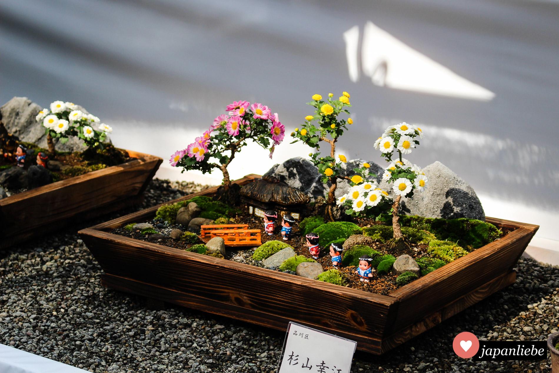 Im November findet jedes Jahr am Meiji Schrein in Tōkyō eine chrysanthemen-Schau statt. Hier sieht man die kaiserliche Blume mal ganz anders.