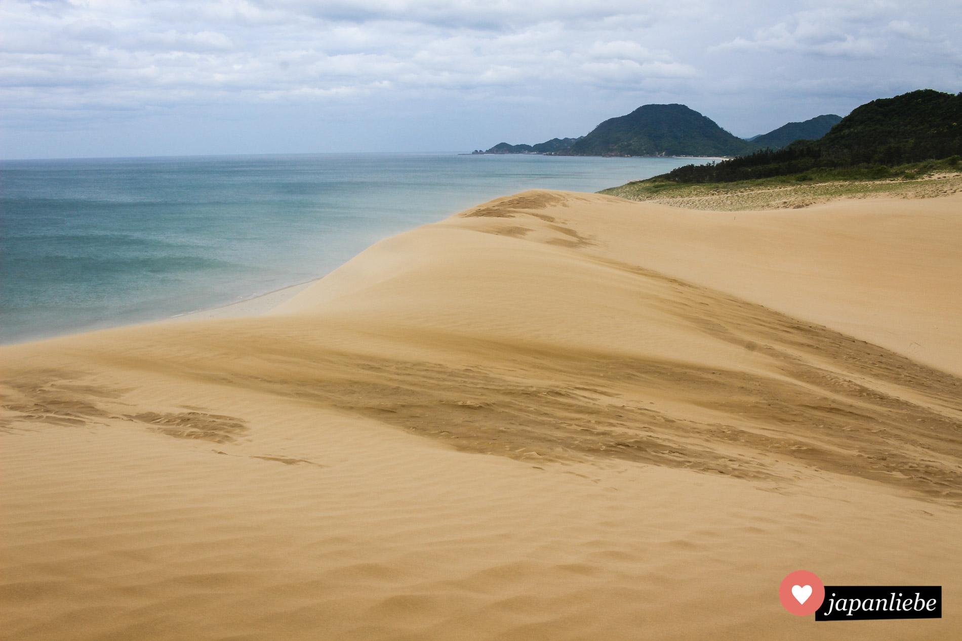 Überraschender Anblick: ein kleines Stück wüste am Meer. Und das in Japan!