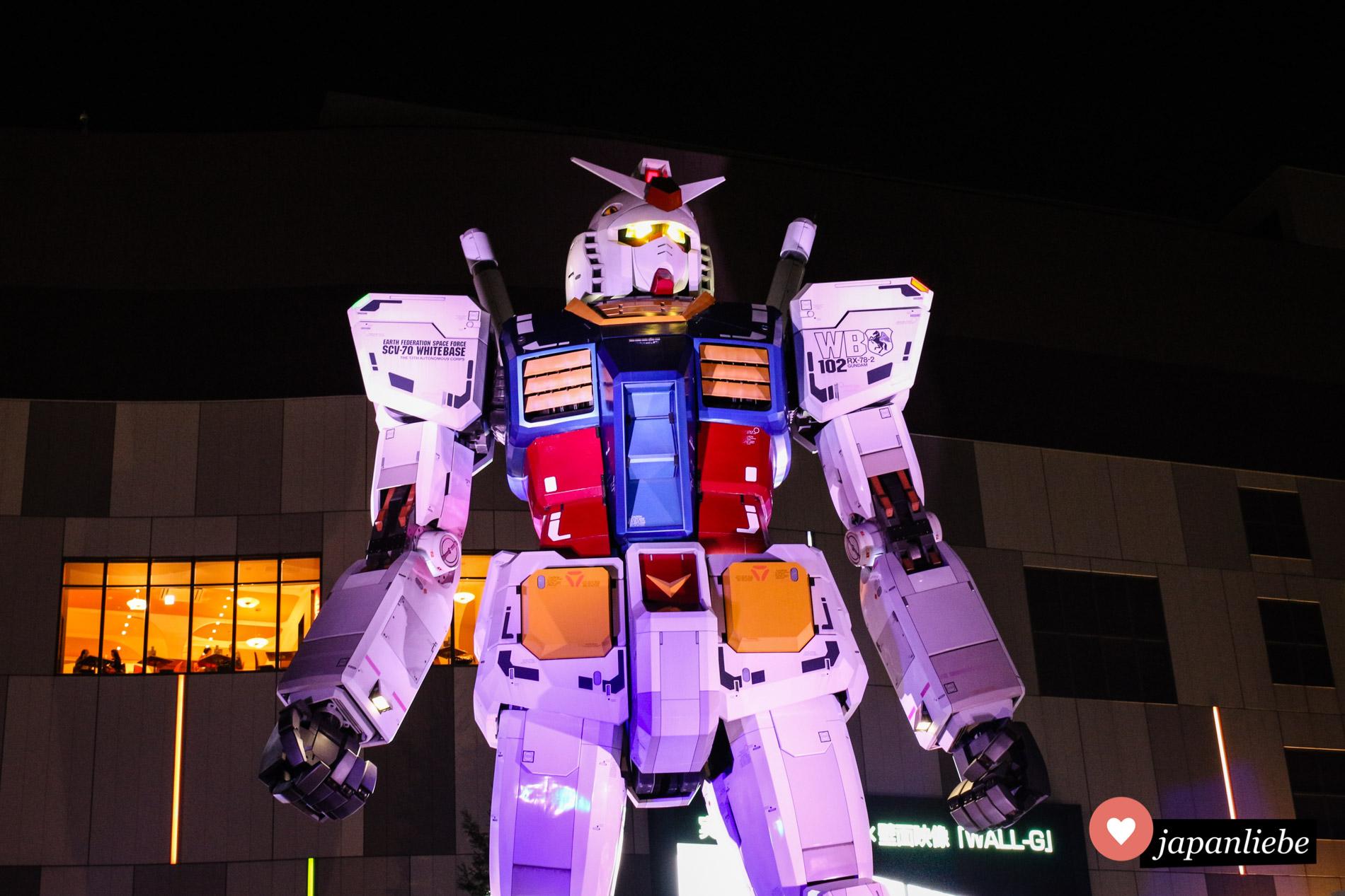 Mehrere Jahre was dieses Gundam-Modell RX-78-2 auf Odaiba zu bewundern.