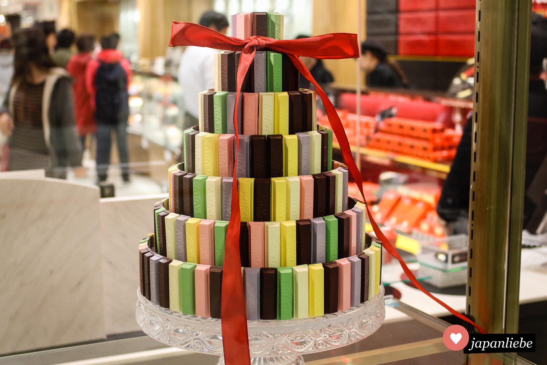 Erinnert an Ladurée: eine KitKat-Pyramide.