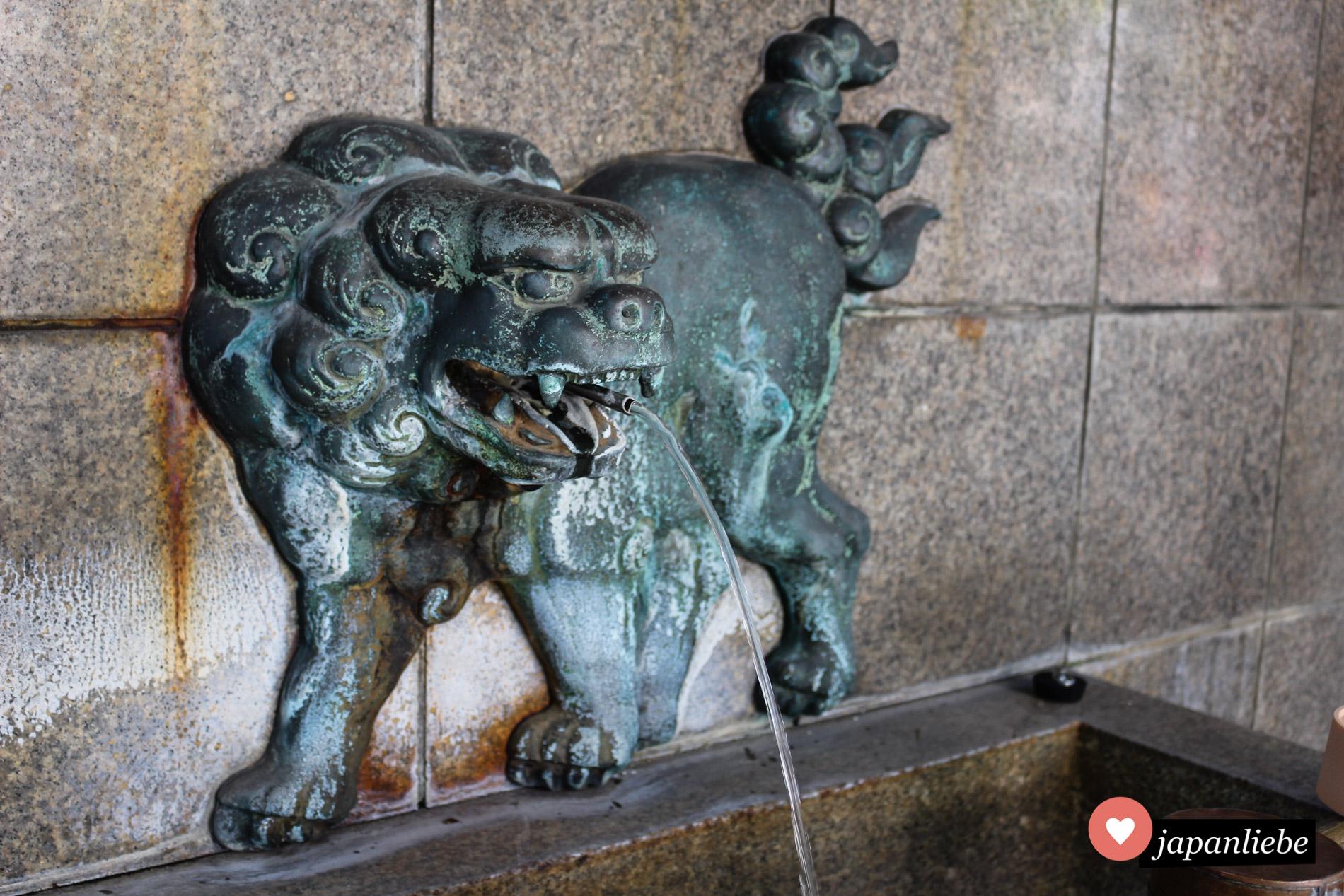 Am Namba Yasaka-Schrein ist alles in Löwenform.