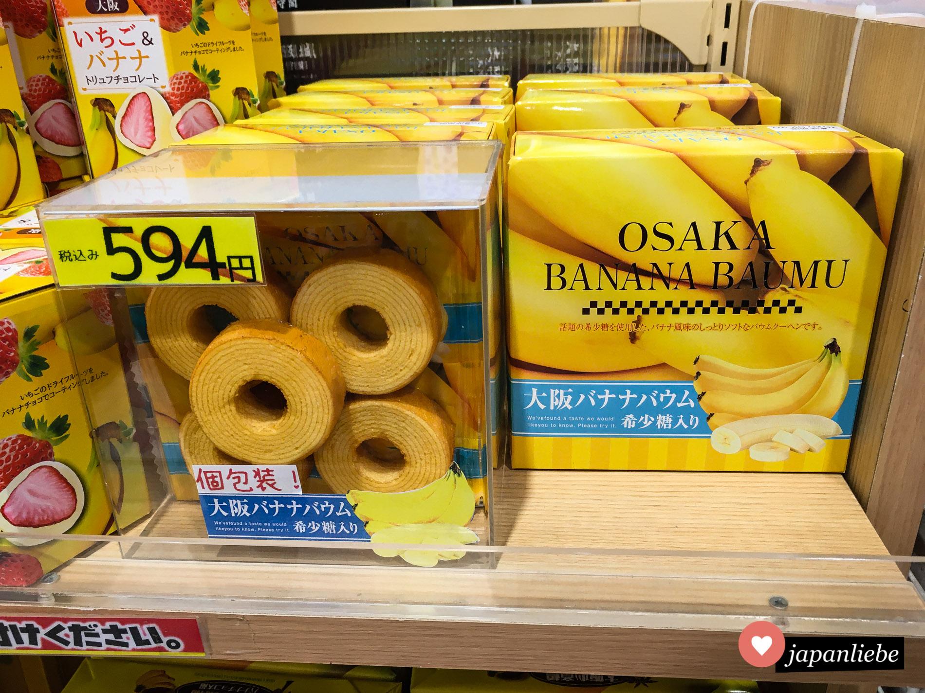 Von Melone über Kürbis bis hin zu Banane, den Geschmacksvariationen sind in Japan bei Baumkuchen keine Grenzen gesetzt.