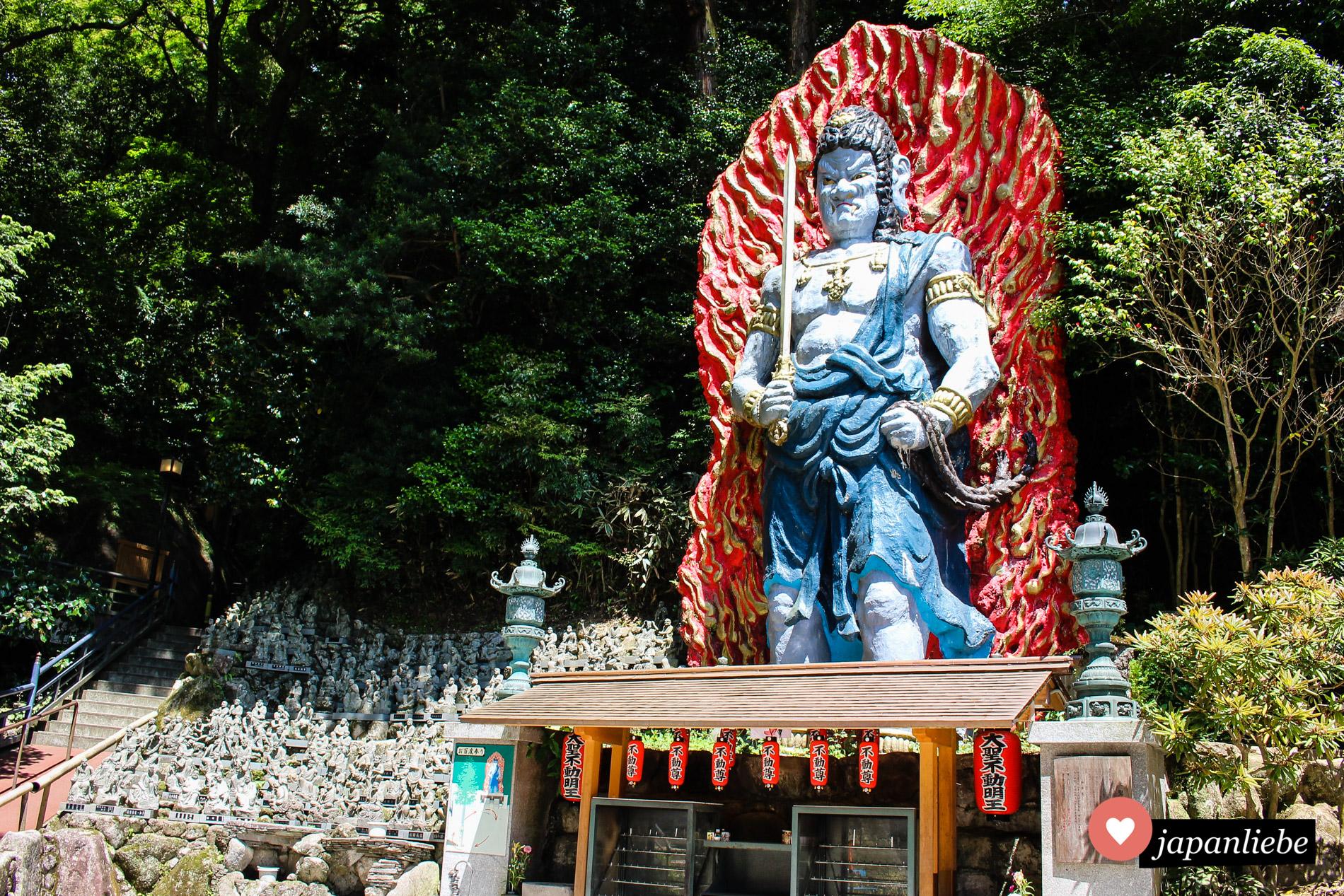 Bedrohlich und beeindruckend: eine Statue des Schutzgottes Fudō Myōō.