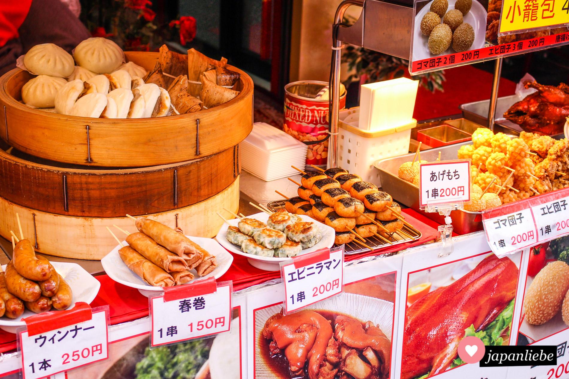 In der Chinatown von Kobe locken unzählige chinesische Leckereien.