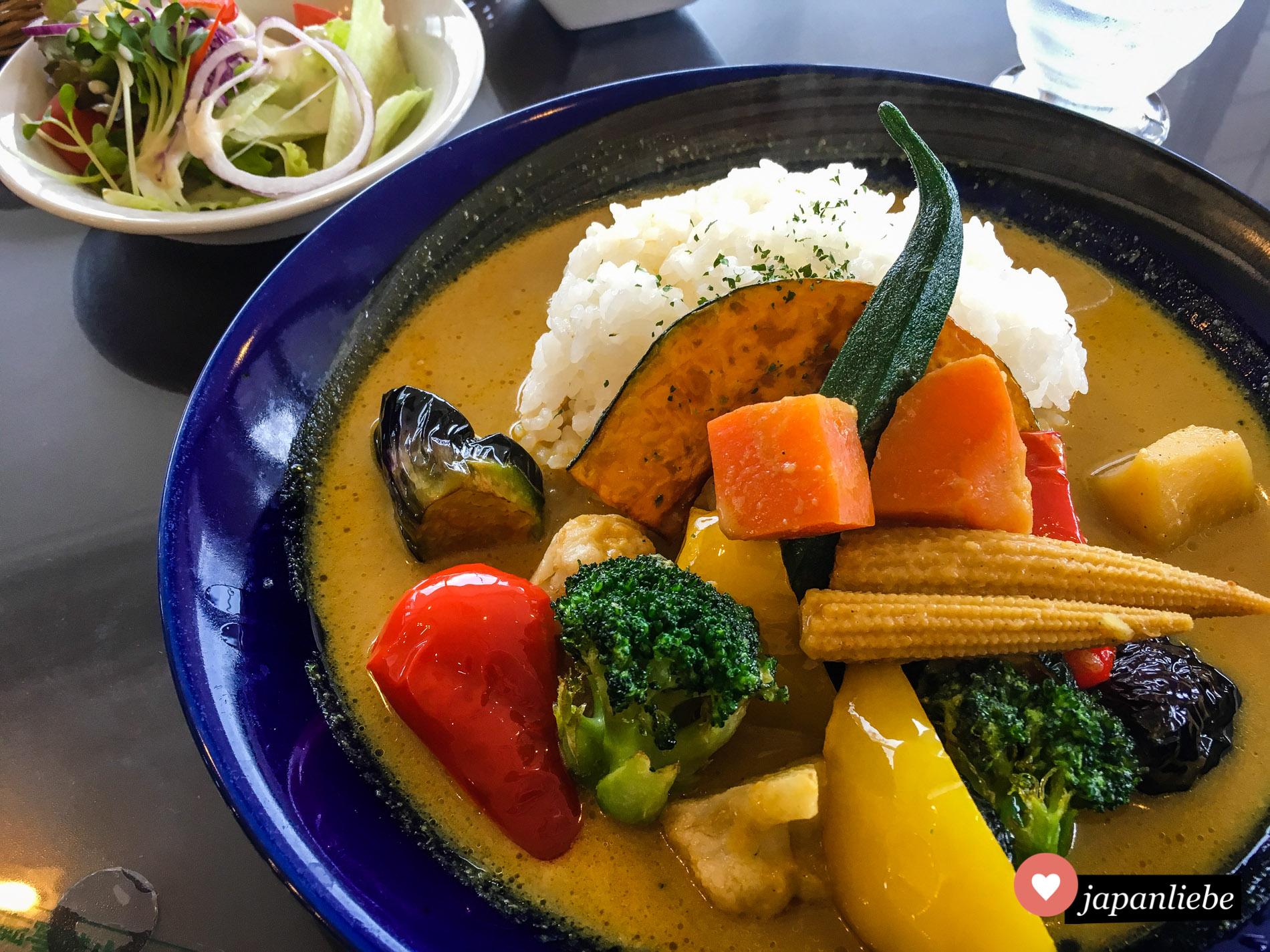 """Das beste Gemüsecurry, das ich bisher in Japan gegessen habe, gibt es im Restaurant """"Sukatto""""."""