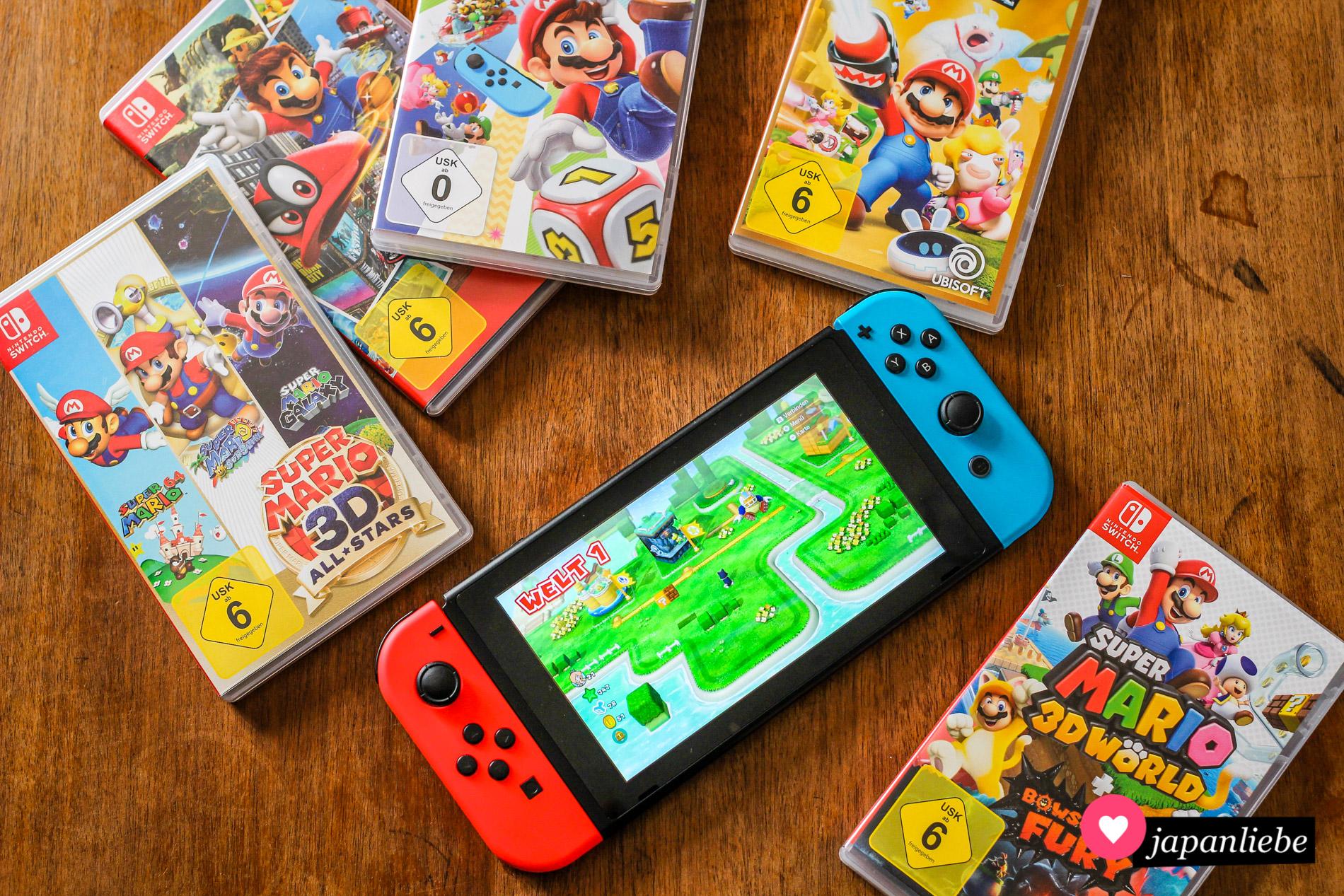 In diesem Haushalt lieben wir Super Mario.
