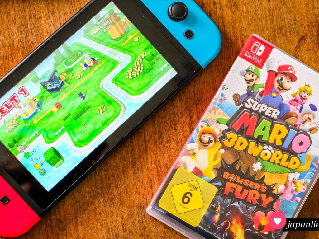 """""""Super Mario 3D World"""" für die Nintendo Switch."""