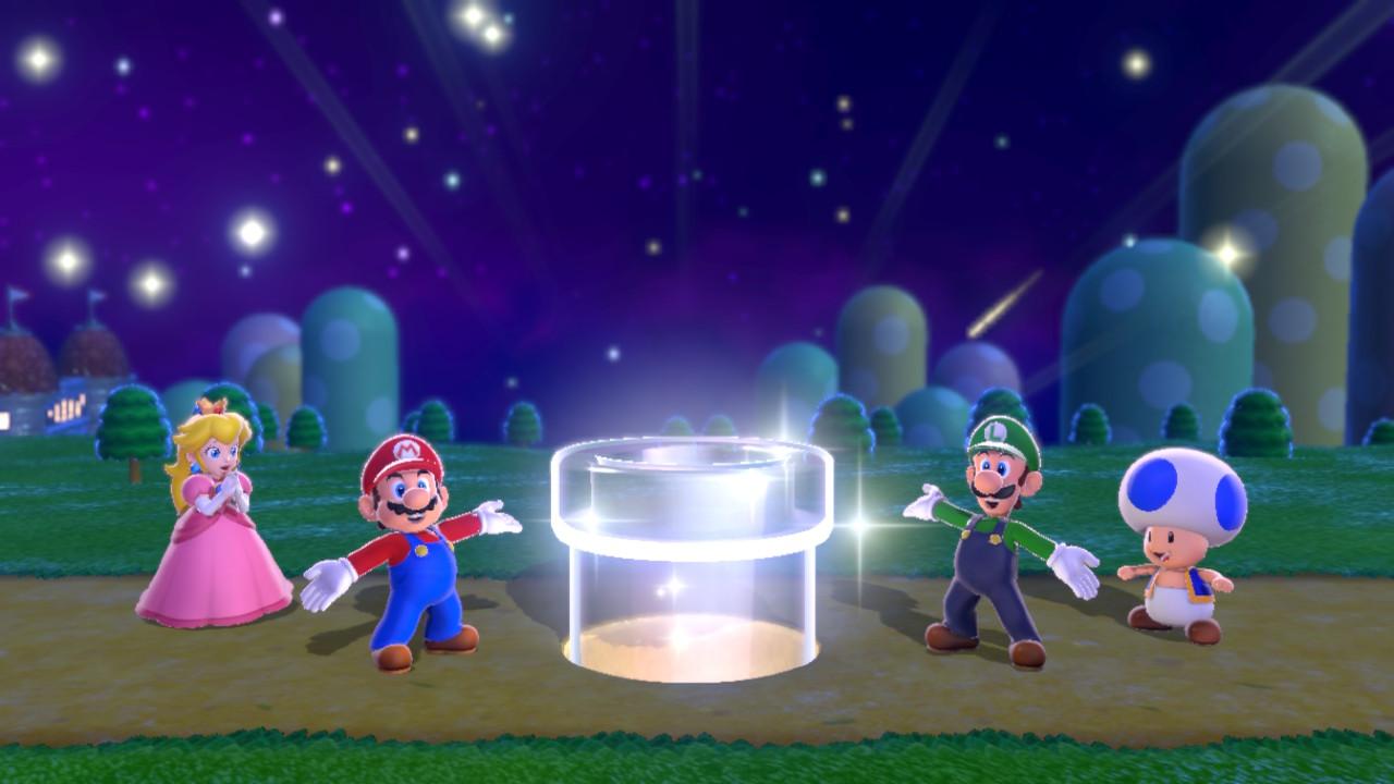 Ab geht's ins Feenland für Mario, Luigi, Princess Peach und Toad.