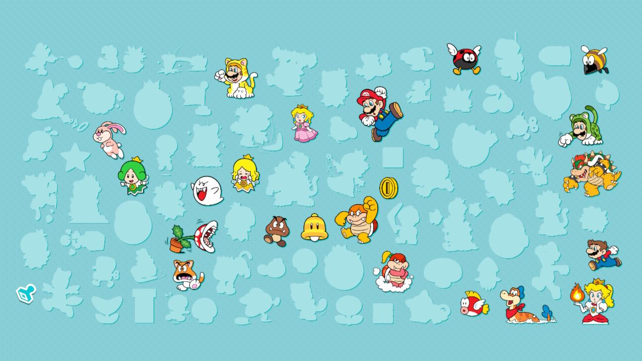 """Im Laufe der Zeit wächst deine Stempelsammlung in """"Super Mario 3D World""""."""